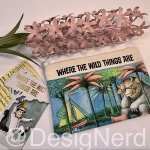 WHERE THE WILD THINGS ARE OUT OF RINT ZIPPER BAG